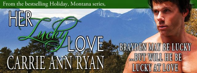 Ooh, there's a hunky shirtless guy with standing in front of a backdrop of snow-tipped white mountains. Brayden may be lucky, but will he be lucky in love?