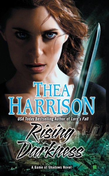 The cover of Thea Harrison's upcoming release - Rising Darkenss