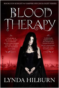 The cover is a dark red and a woman stands in the center. She's got long straight black hair, wearing a black fancy dress with a cape and fingerless full length gloves. She's wearing a cross and wary glare.